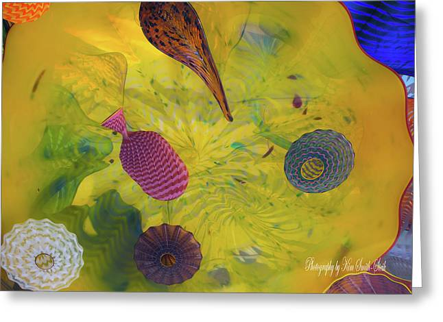 Chihuly Glass 3 Greeting Card by Safe Haven Photography Northwest