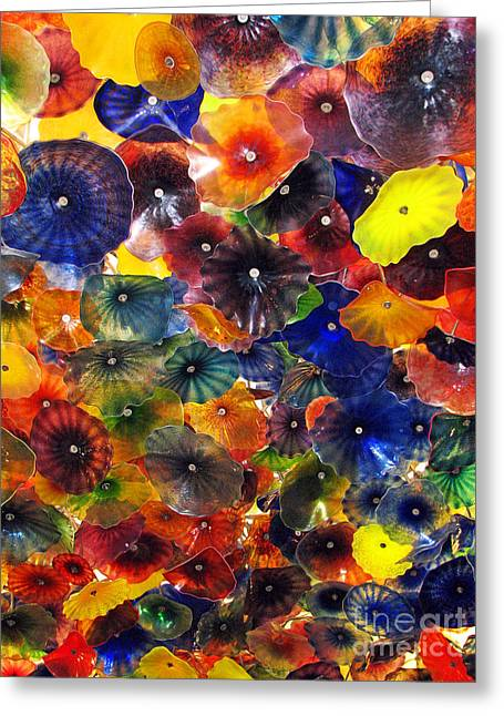 Chihuly Glass Greeting Cards - Chihuly Glass Ceiling Image Greeting Card by Sabrina Wheeler