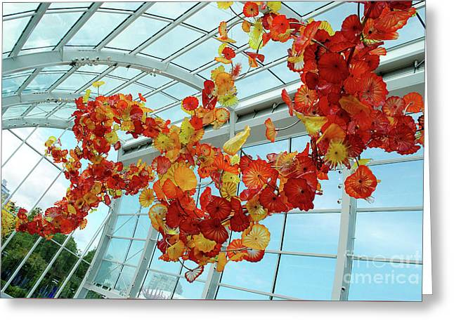 Chihuly Glass House Greeting Card by Alicia Espinosa