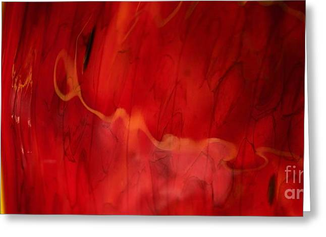 Chihuly Red Greeting Card by Glennis Siverson