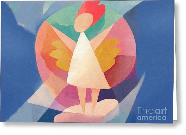 Child Angel Greeting Card by Lutz Baar