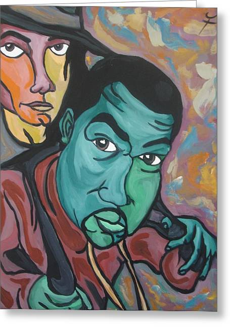 Kanye West Paintings Greeting Cards - Child Like Innocence  Greeting Card by Jason JaFleu Fleurant