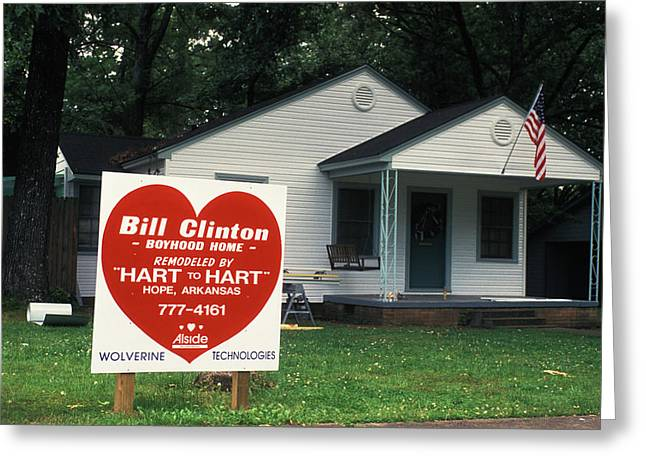 Childhood Home Of Bill Clinton Greeting Card by Carl Purcell