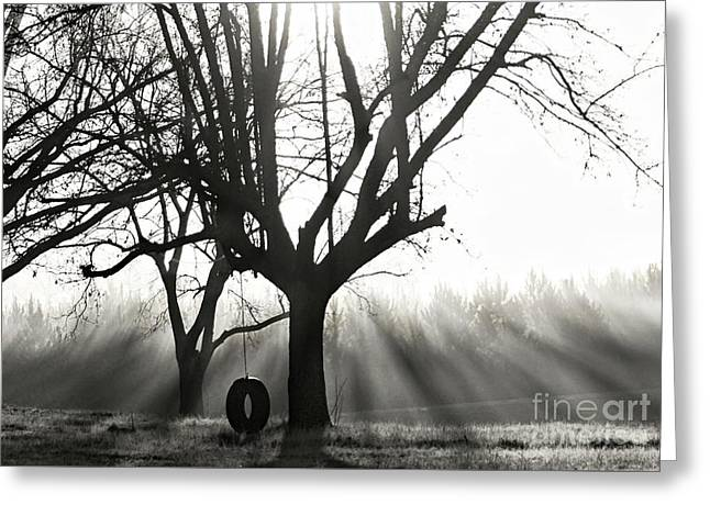 Childhood Memories In Black And White Greeting Card by Benanne Stiens