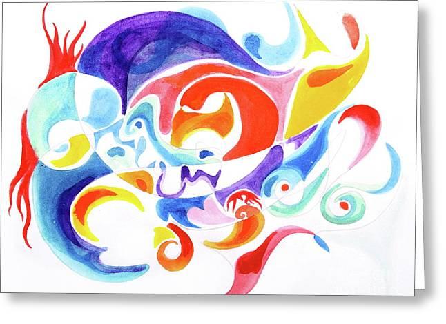 Childhood Phantasm  Greeting Card by Expressionistartstudio Priscilla-Batzell