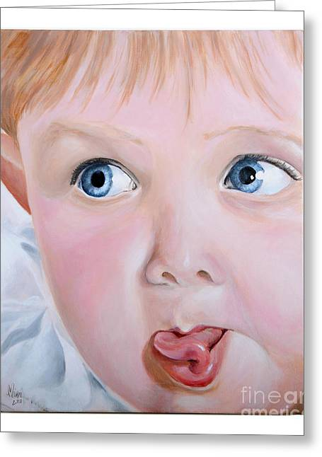 Photo Realism Greeting Cards - Childhood Reflections I Greeting Card by Lynda McLaughlin