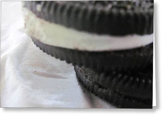 Oreo Greeting Cards - Childhood Yummies Greeting Card by Rose Hart