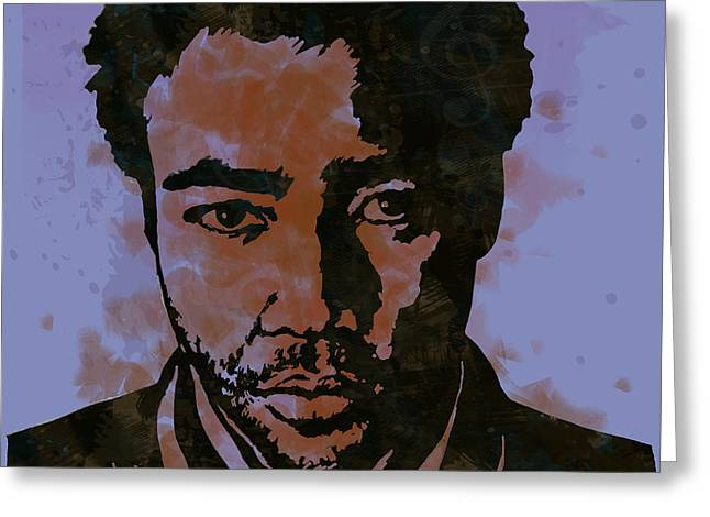 Comedians Greeting Cards - Childish Gambino Pop Stylised Art Sketch Poster Greeting Card by Kim Wang
