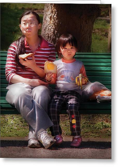 Toast Greeting Cards - Children - Balanced Meal Greeting Card by Mike Savad