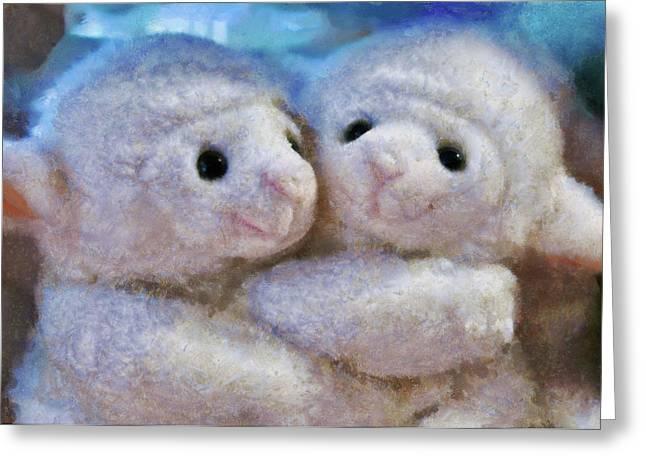Children - Toys - I Love Ewe Greeting Card by Mike Savad