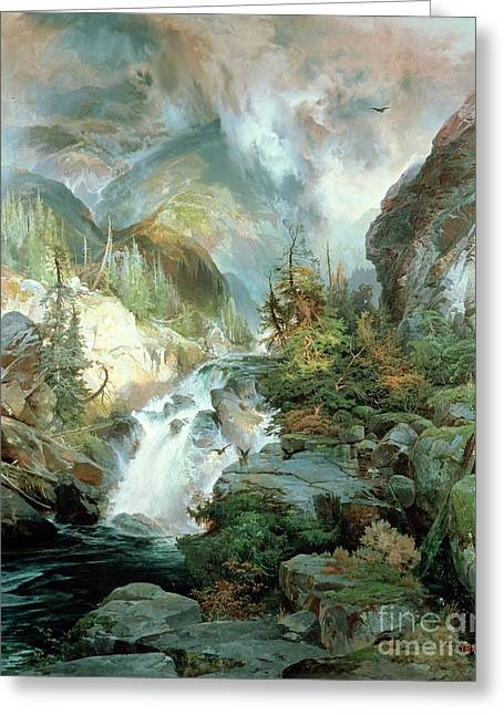 Rapid Paintings Greeting Cards - Children of the Mountain Greeting Card by Thomas Moran