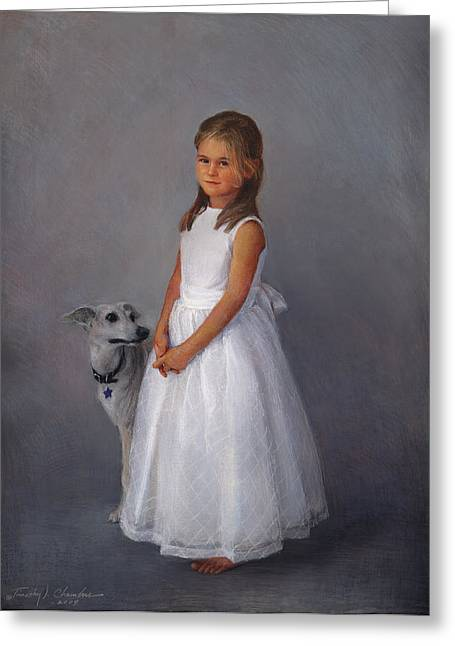 Timothy Chambers Greeting Cards - Childrens Full-figure Portrait Greeting Card by Timothy Chambers