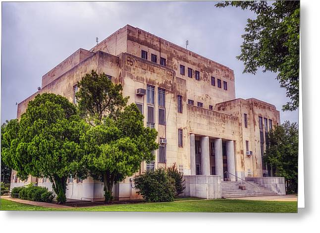 Public Administration Greeting Cards - Childress County Courthouse Greeting Card by Joan Carroll