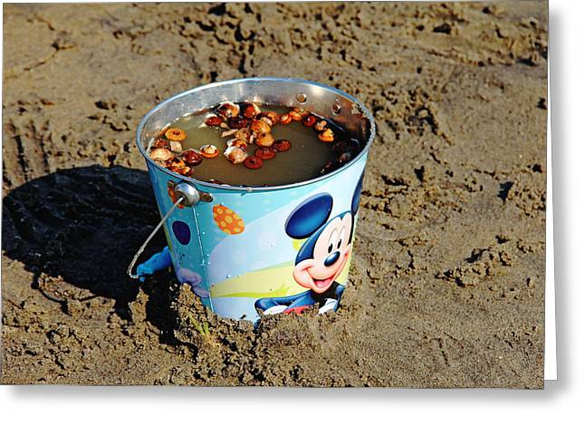 Moon Beach Greeting Cards - Childs Play Greeting Card by Debbie Oppermann