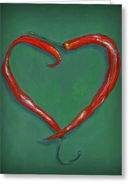 Chiles - Sweet Heat Greeting Card by Karyn Robinson