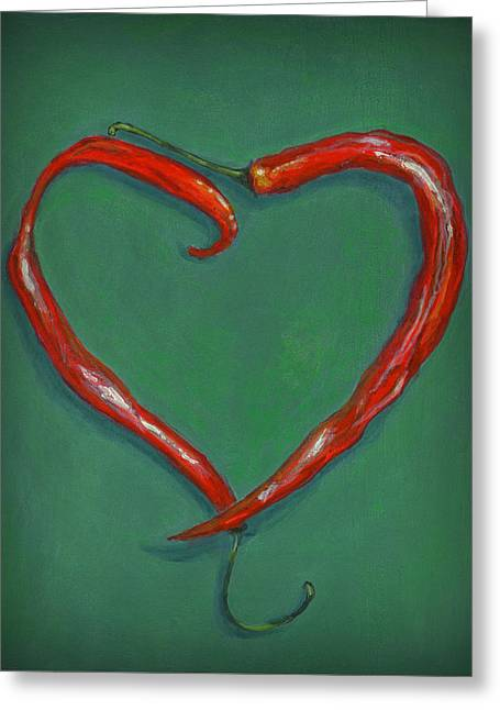 Taos Greeting Cards - Chiles - Sweet Heat Greeting Card by Karyn Robinson