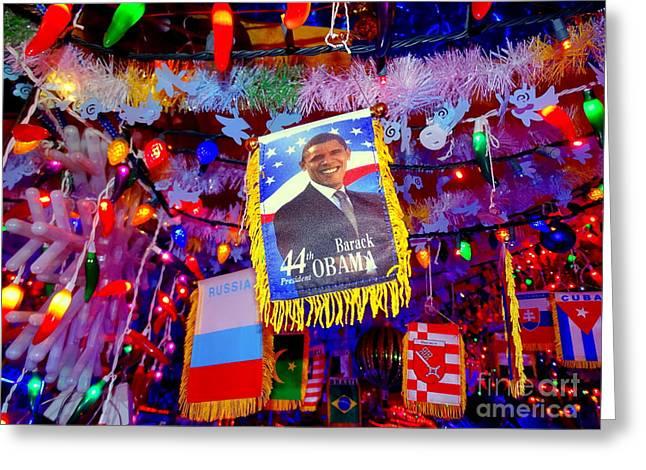 Barack Greeting Cards - Chili Pepper Barack Greeting Card by Ed Weidman