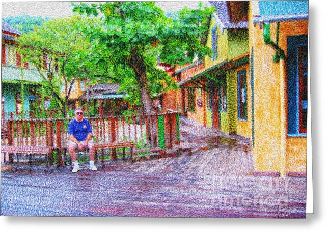 Enhanced Greeting Cards - Chilling Out In Margaritaville Greeting Card by Diane Macdonald
