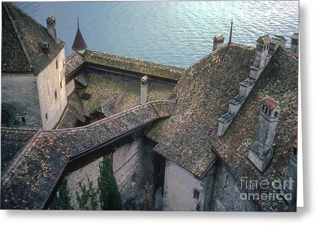 Chillon Greeting Cards - Chillon Castle Greeting Card by Bob Phillips