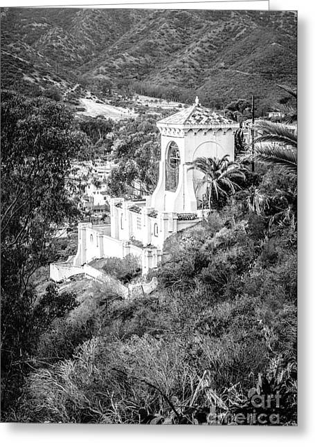 Chimes Bell Tower On Catalina Island Greeting Card by Paul Velgos