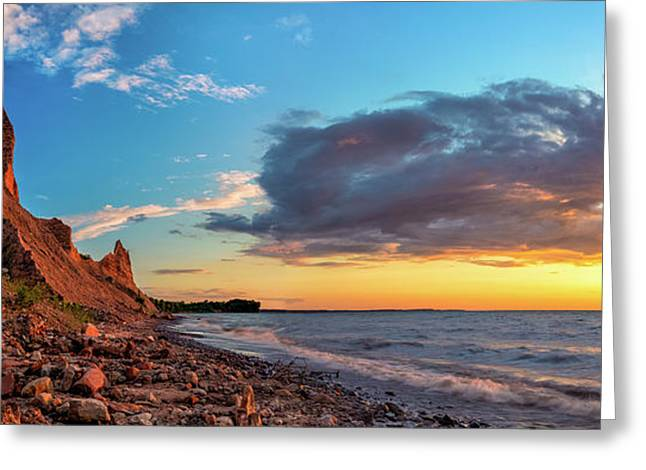 Colorful Cloud Formations Greeting Cards - Chimney Bluffs Greeting Card by Mark Papke