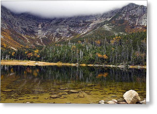 Chimney Rock State Park Greeting Cards - Chimney Pond during fall - Baxter State Park Maine Greeting Card by Brendan Reals