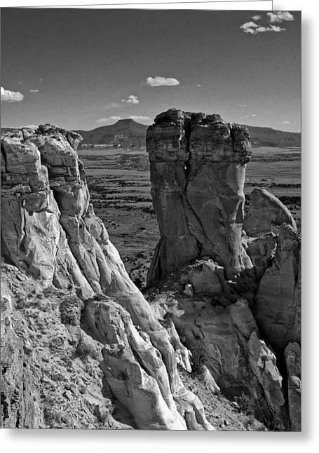 2009 Digital Art Greeting Cards - Chimney Rock and Cerro Pedernal 2 Greeting Card by Lou  Novick