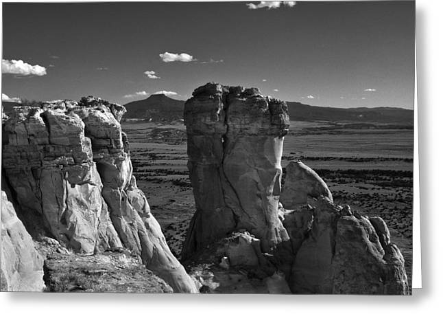 Chimney Rock And Cerro Pedernal 3 Greeting Card by Lou  Novick