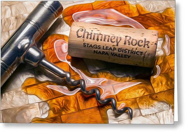 Chimney Rock Uncorked Greeting Card by Jon Neidert