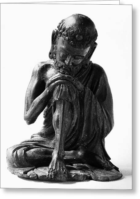Paint Photograph Greeting Cards - China: Ascetic Buddha Greeting Card by Granger