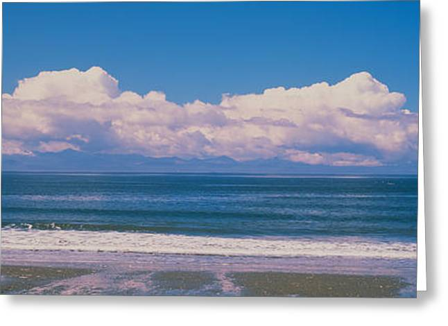 China Beach Vancouver Island British Greeting Card by Panoramic Images