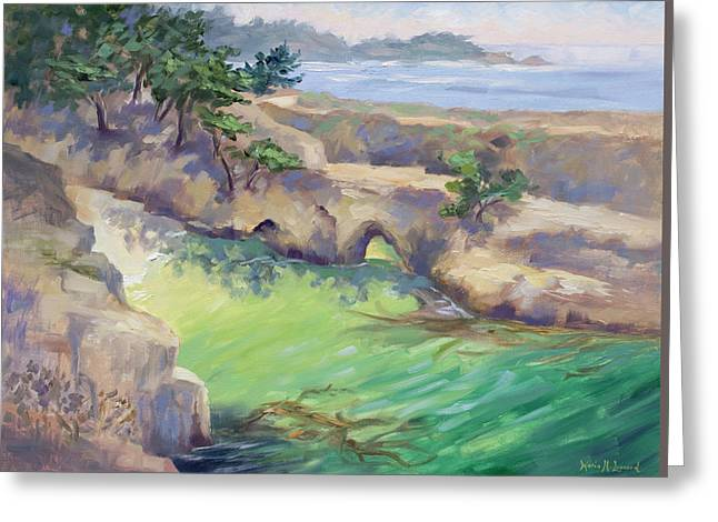 China Cove Glow Greeting Card by Karin  Leonard