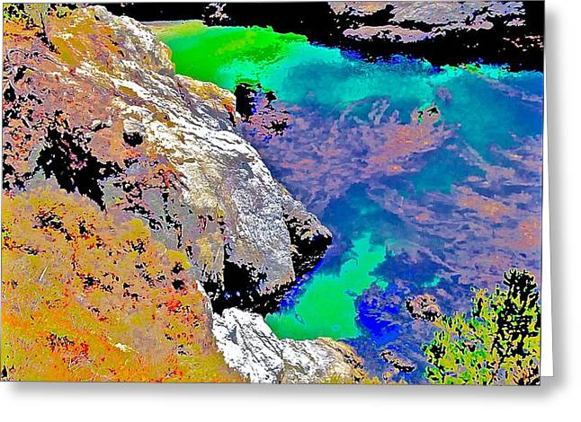Point Lobos Greeting Cards - China Cove to South Greeting Card by Scott L Holtslander