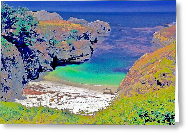 Point Lobos Greeting Cards - China Cove West Greeting Card by Scott L Holtslander