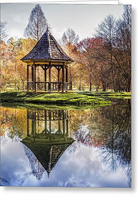 Pond In Park Greeting Cards - China Garden Greeting Card by Debra and Dave Vanderlaan