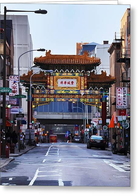 Center City Greeting Cards - Chinatown - Philadelphia Greeting Card by Bill Cannon