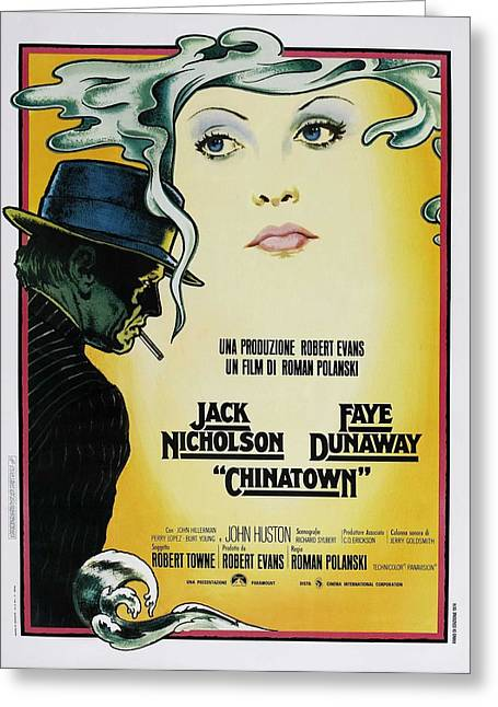 Film Noir Greeting Cards - Chinatown Film Poster Greeting Card by Nomad Art And  Design