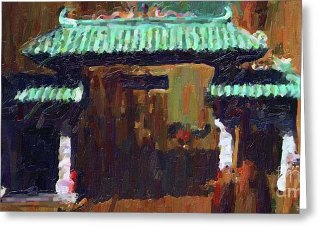 Chinatown Gate Greeting Card by Wingsdomain Art and Photography