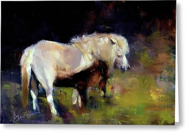 Chincoteague Pony Greeting Card by Xx X