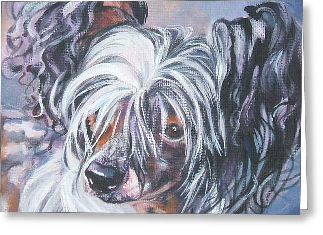 Chinese Portrait Greeting Cards - Chinese Crested Greeting Card by Lee Ann Shepard