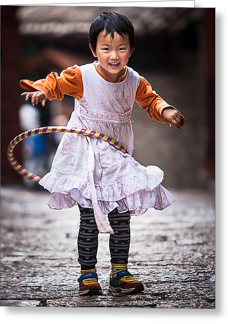 Game Greeting Cards - Chinese Girl Greeting Card by Sharon Yanai