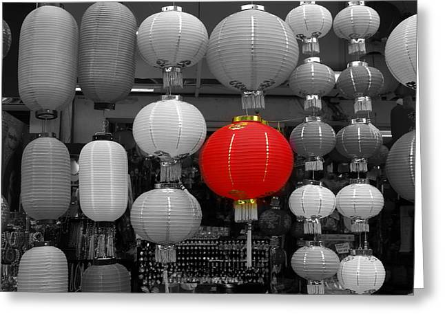 Latern Greeting Cards - Chinese Lanterns Greeting Card by Michael Canning