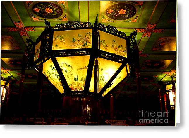 Chinese Latern Greeting Card by Birgit Moldenhauer