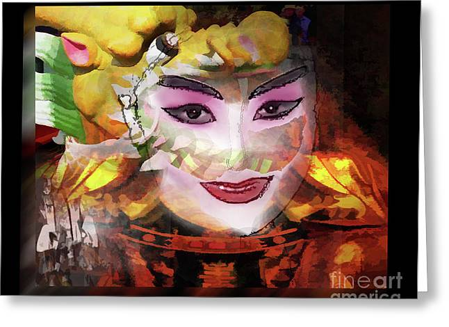Chinese Opera Greeting Card by Tom Griffithe