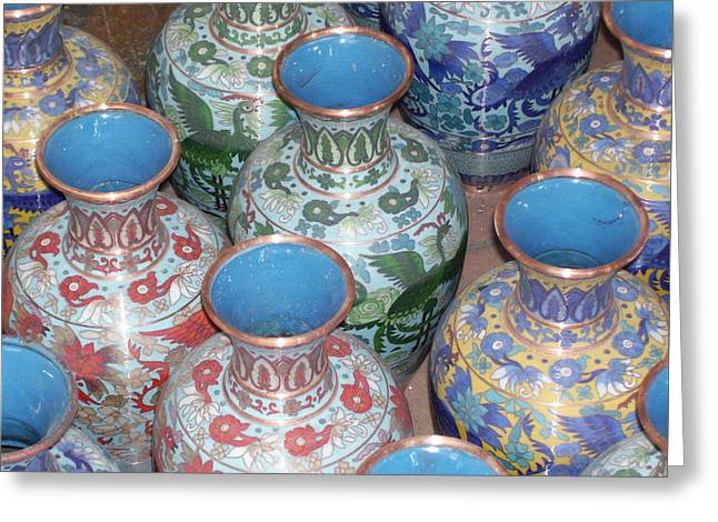Chinese Ceramics Greeting Cards - Chinese pottery Greeting Card by Candice Wardleworth