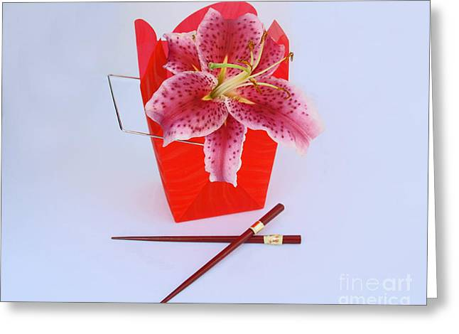 Take-out Greeting Cards - Chinese Take Out Greeting Card by Joan Powell