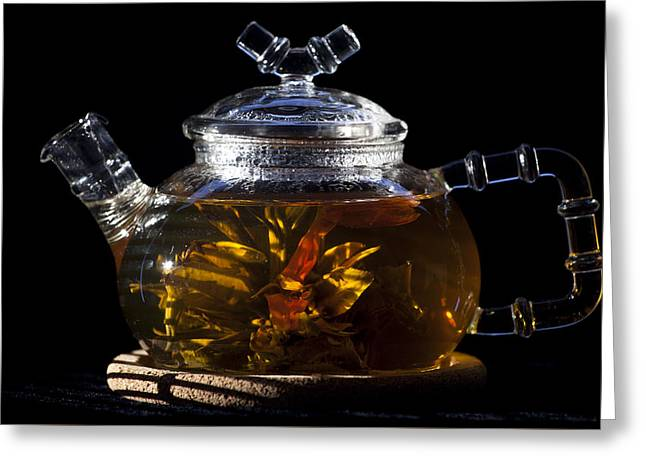 Artist Photographs Greeting Cards - Chinese Tea Greeting Card by Dmitry Soloviev