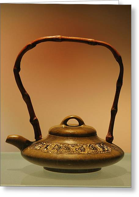 Ornamental Greeting Cards - Chinese Teapot - A symbol in itself Greeting Card by Christine Till