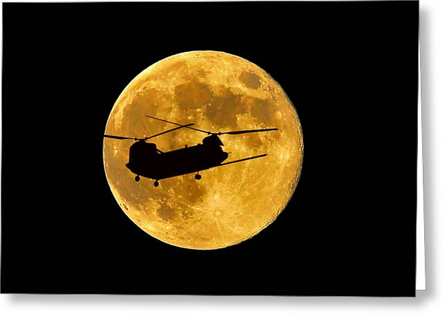 Lunation Greeting Cards - Chinook Moon Color .png Greeting Card by Al Powell Photography USA