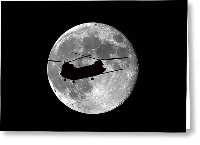 Lunation Greeting Cards - Chinook Moon .png Greeting Card by Al Powell Photography USA